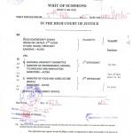 Legal suit