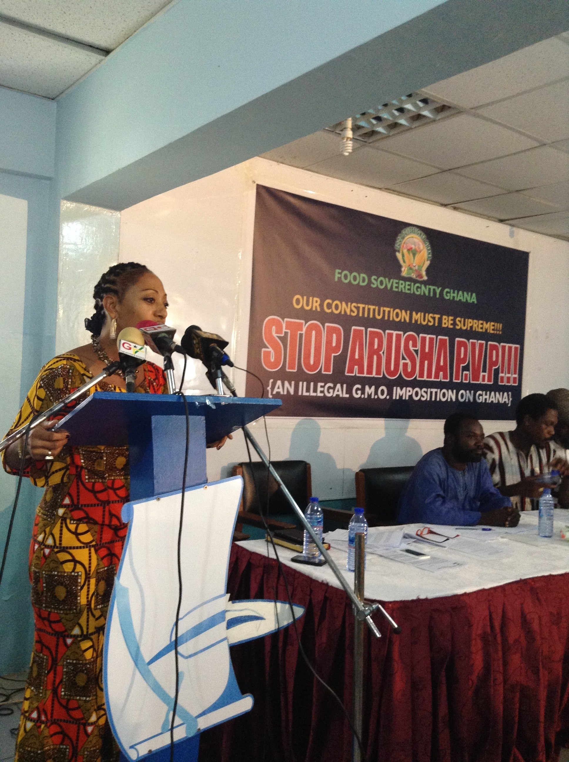 Samia Nkrumah Addressing Press Conference  At the International Press Centre, Accra,